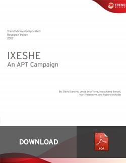 IXESHE: An APT Campaign