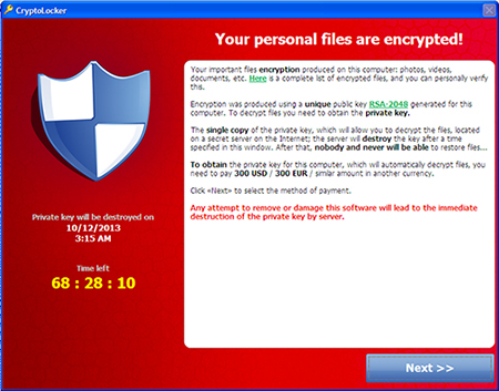 CryptoLocker scan