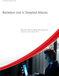 Backdoor Use in Targeted Attacks